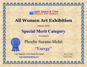 SM - Phoebe Surana-Mehit - ALL WOMEN - 2016 ART EXHIBITION - CERTIFICATE - Copy