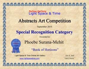 SR - Phoebe Surana-Mehit - ABSTRACTS ART COMP CERTIFICATE