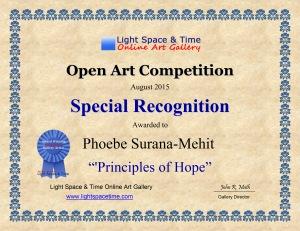 SR - Phoebe Surana-Mehit - OPEN ART COMP CERTIFICATE