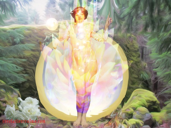 unified chakras source with little ball of light~website